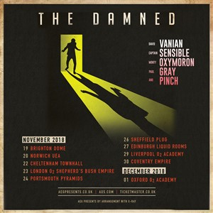 This week, The Damned are currently occupying the number seven position in  the Official UK Album Charts with their new album 'Evil Spirits', released  last ...